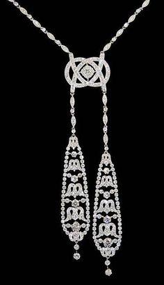 Platinum Diamond Necklace - Yafa Jewelry