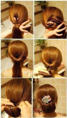 Penteado simples e lindo