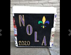 COOLERSbyU Painted Cooler Examples | Nola 2020 Frat Formal | Tags: new orleans, formal, 2020, nola, formal cooler, Bubba Mug, Painted Coolers, Fraternity Coolers, Cooler Painting, Painting Inspiration, New Orleans, Tags, Formal, Ideas