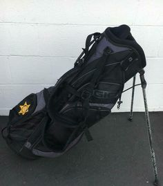 OGIO STAND GOLF BAG L.A COUNTY SHERIFF DEPT~PROMO BAG~COLLECTIBLE~BLACK~NEW~LITE #OGIO #Modern
