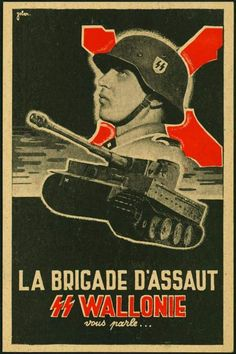 La Brigade D'Assaut SS Waalonie, why is this poster funny?