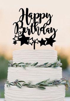 Cake topper - Happy Birthday cake topper, birthday cake topper, birthd – DokkiDesign