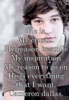So true he's my everything lol Shawn and Cameron both are mine I just can't pick between them there both sweet people