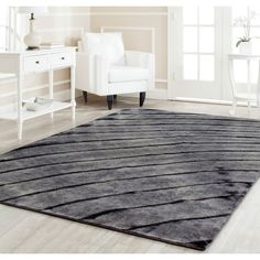 Hand-knotted Expressions Grey Wool Rug | Overstock.com Shopping - The Best Deals on 7x9 - 10x14 Rugs