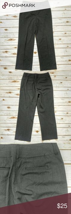 """Chico's Gray Striped Dress Slacks Chico's Gray Striped Dress Slacks  Size 10 short in excellent used condition. 16"""" waist and 29"""" inseam. Please let me know if you have any questions. I ship the same day as long as the post office is still open. Have a great day, thanks for checking out my closet and happy poshing! Chico's Pants Boot Cut & Flare"""