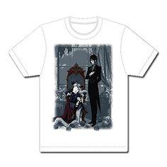 Black Butler Sebastian and Ciel White T-Shirt