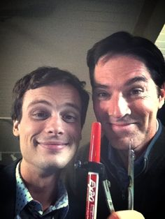 Matthew Gray Gubler and Thomas Gibson. (my babies <3)