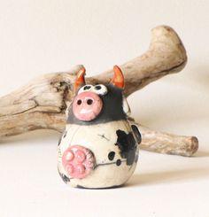 Vache en céramique Raku ****Dispo à partir du 12/5***