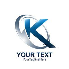 Initial Letter K Logo Template Colored Blue Grey Circle Wave S Logo Design, Logo Design Template, Lettering Design, Logo Templates, Initial Logo, Initial Letters, Letter Logo, Abstract Logo, Geometric Logo