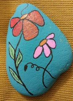 24 Beauty and Cute Rock Painting Ideas garden with rocks Easy Paint Rock For Try at Home (Stone Art & Rock Painting Ideas) Pebble Painting, Pebble Art, Stone Painting, Diy Painting, Rock Painting Ideas Easy, Rock Painting Designs, Painting Patterns, Stone Crafts, Rock Crafts