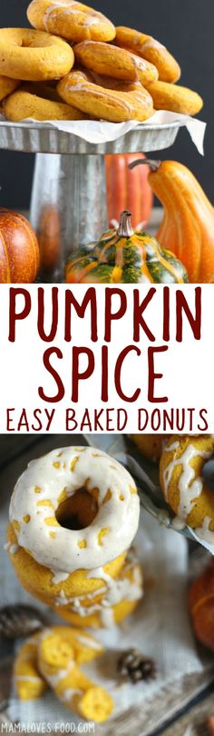 Easy Baked Pumpkin Spice Donuts with Maple Nutmeg Glaze Recipe