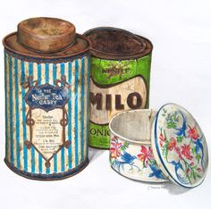Lovely Vintage Tins by Alexandra Nea