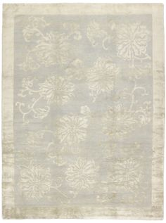 Blossom Border shown in Atlantis Rug by Stephanie Odegard Collection at ProjectDecor.com