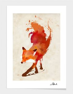 All I want for Christmas is this fox print! Curioos   The Digital Art Factory   Limited Edition & Gallery Quality Art Prints