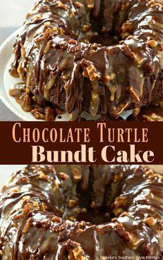 Chocolate Turtle Bundt Cake
