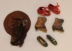 16' '3' ANTIQUE BISQUE HEAD FRENCH FASHION DOLL, WOODEN TRUNK, LARGE WARDROBE & ACCESSORIES.