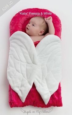 """Our iconic Wrapaboo by Angels on My Pillow in soft and cuddly """"Katia"""" Freesia & White """"Trend"""" Embossed Plush. Ships in our sop Baby Dolls For Sale, Kids Room Paint, Baby Nest, Diy Crafts For Gifts, Niece And Nephew, Receiving Blankets, Kids Bags, Baby Sewing, Baby Shower Gifts"""