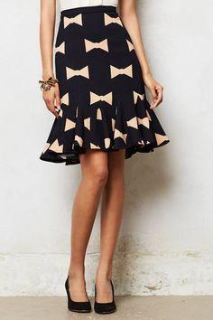 Anthropologie Bowtie Skirt // so cute!