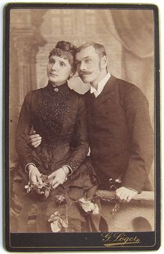 Portrait of a married couple (photo by Gustáv Löger)