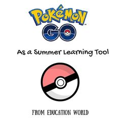Just In: How Pokemon GO can be the perfect summer learning tool: ow.ly/Y9ns302fCYj