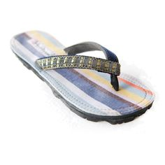 7c673e6add014 Fresh Cargo Fair Trade Kikoy Glitter Strap Flip Flops