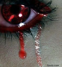 It sucks to realize that your heart is so broken that your tears turned to blood:( that's is so weird!!!!