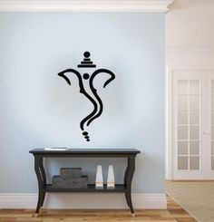 Ganesh Ganesha Elephant Lord of Success Hindu Hand God Buddha Indian Design Wall Vinyl Decals Art Sticker Home Modern Stylish Interior Decor for Any Room Smooth and Flat Surfaces Housewares Murals Design Graphic Bedroom Living Room (4200)