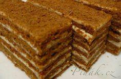 POTŘEBNÉ PŘÍSADY: Cesto:  100 g masla 3 PL medu 300 g kryštálového cukru 1 KL octu 1 PL jedlej sódy 2 vajcia 700 g hladkej múky 3 PL kakaa  Krém:  250  ...