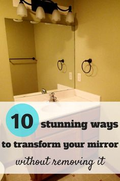 It's time to revamp that builder-grade mirror.