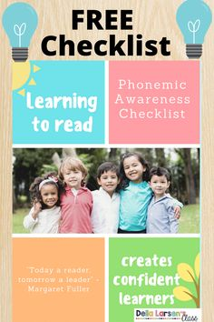 Phonemic awareness fluency is crucial for kindergarten and preschool students. Grab this free checklist to ensure you know what skills your beginning readers have mastered. Literacy Stations, Literacy Skills, Literacy Centers, Kindergarten Readiness, Kindergarten Classroom, Interactive Learning, Fun Learning, Teaching The Alphabet, Digital Literacy