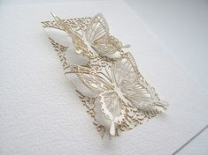 Lasercut butterfly cards by PaperSaw on Etsy