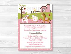 Hey, I found this really awesome Etsy listing at https://www.etsy.com/listing/156588637/cute-pink-farm-animal-baby-shower