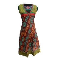 Buy Latest Indian Pakistani Designer Cotton Kurti With Embroider Tunic