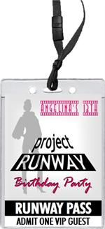 Project Runway Party Invitation: Laminated Pass