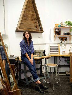 Nikki Garcia workspace Bedroom Workspace, Drafting Desk, Backyard, Style Inspiration, Furniture, Home Decor, Patio, Decoration Home, Room Decor