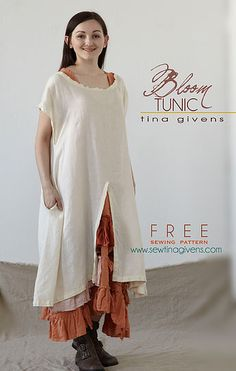 Free Sewing pattern by Tina Givens. Fabulous, simple and easy. Make this dress.