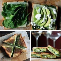 Sandwich de espinaca, queso de cabra, aguacate y pimienta, se necesita mas?