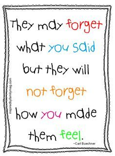 What students remember most about teachers, and kids about parents too!