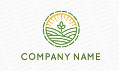 A line art logo design perfect for an agricultural company looking to make a modern brand. Typography Poster Design, Modern Branding, Agriculture Logo, Art Logo, Branding Design Logo, Sun Logo, Logo Design, Design, Circular Logo Design