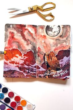 20+ Art Journal Galaxies to Inspire