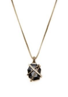 ideeli | GUESS Caged Stone Necklace