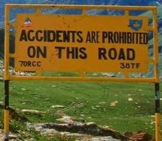 Driving on Indian roads is a hilarious experience when you notice these funny road signs. Meant to alert drivers, these humorous road signs guarantees to tickle Funny Street Signs, Funny Road Signs, Fun Signs, You Funny, Funny Jokes, Hilarious, Funniest Jokes, Funny Stuff, Jokes