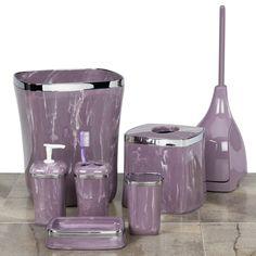 Grey and purple bathroom ideas