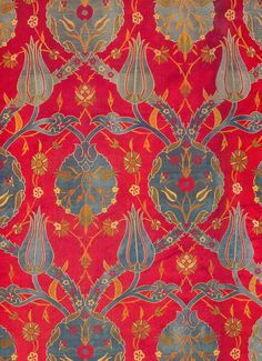 (via (9) Early 17th century textile from the book, Silks for the Sultans - Textile Museum of Topkapi, Istanbul, Turkey.   Pinterest)