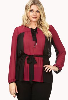 88f48f9e01 Whimsical Colorblocked Blouse