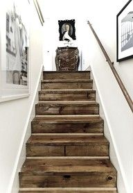 staircase with refurbished floor