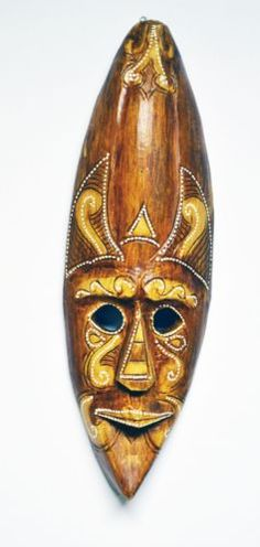 NATURAL LIGHT WOOD ELDER SORCERER MASK HANDCRAFTED HOME DECOR PAINTED ART M360