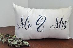 Mr & Mrs Pillow Wedding Decor Home Decor Living Space
