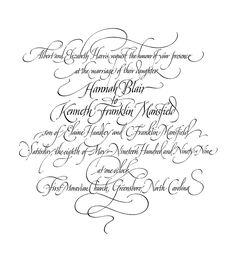 Italic calligraphy More