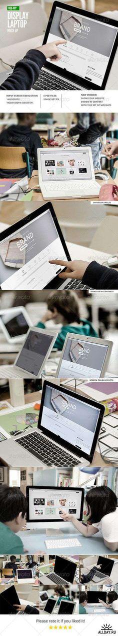 Web Display Laptop Mock-Up